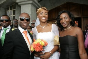 Actress, Genevieve Nnaji with the couple