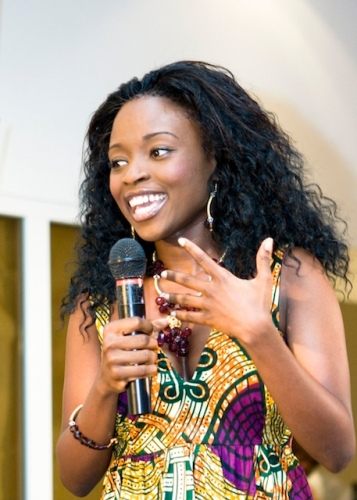 The designer, Aisha Obuobi