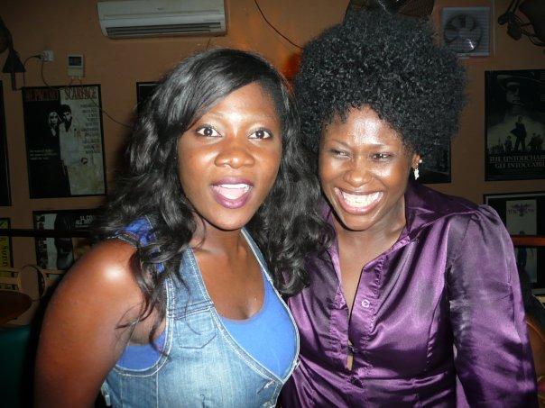 Uche with Mercy Johnson