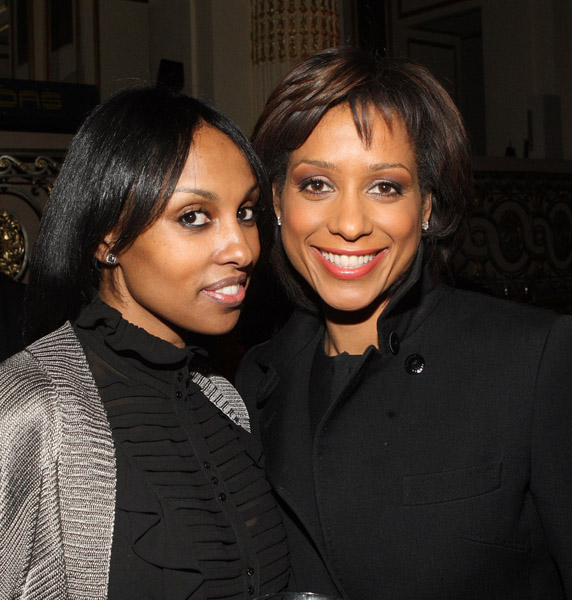 TV Personality Sade Baderinwa on right