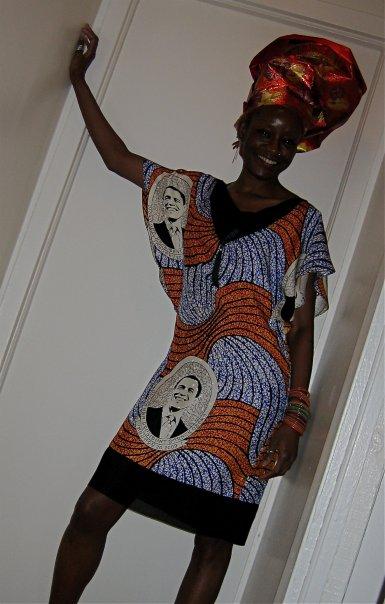Designer Lola Faturoti in Obama Dress