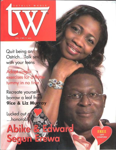 Hon Abike Dabiri-Erewa & husband Edward Erewa on the cover of TW Mag