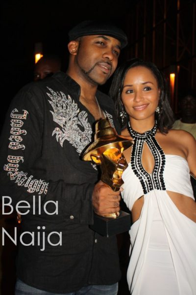 Banky W clutches his award
