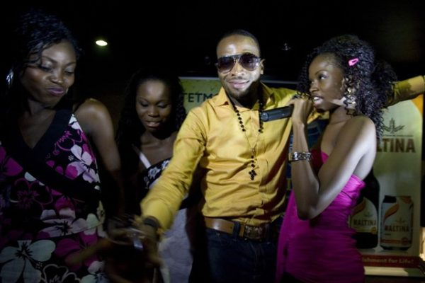 D'Banj with Evicted Kokolettes - Chioma, Bidemi and Lilian