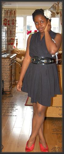 Dress (not actually a dress – but a top – look below): Zara, Shoes: All Saints, Belt: Primark