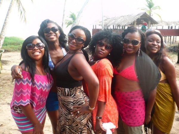 Ini Edo, Susan Peters, Uche Jombo and other guests savour the atmosphere