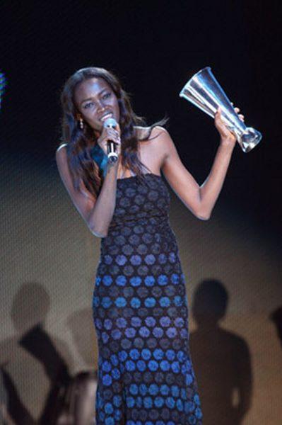 Oluchi celebrates her award