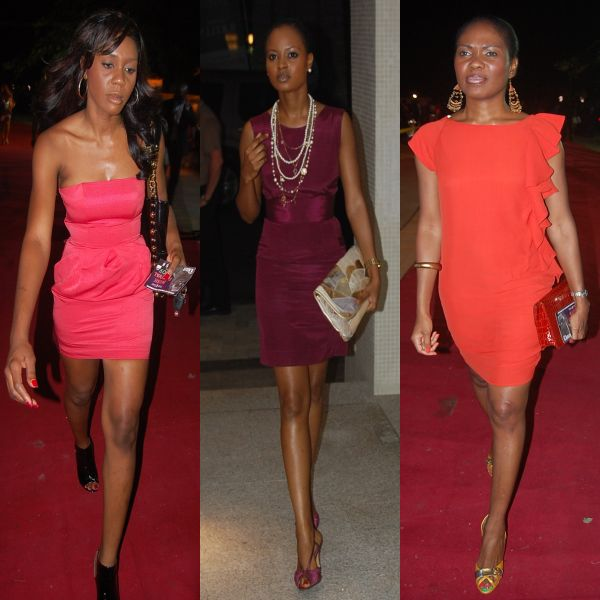 Coral, Plum and Orange! 3 bold colours choices for these 3 ladies on the ThisDay red carpet