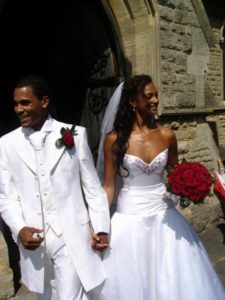 Kosibah designed singer Alesha Dixon's wedding dress