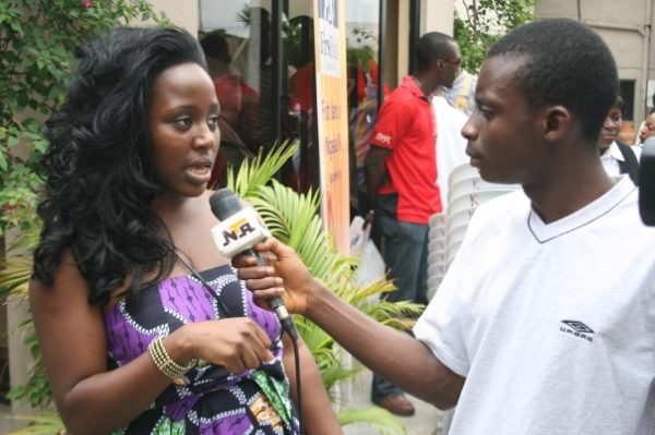 Omotola Synmonu, President, Harambe Nigeria chats with a reporter
