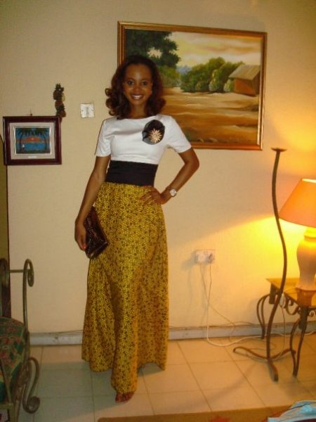 Omowunmi in another creative ankara look