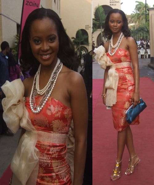 Omowunmi at Future Awards  2009- Dressed by MAI