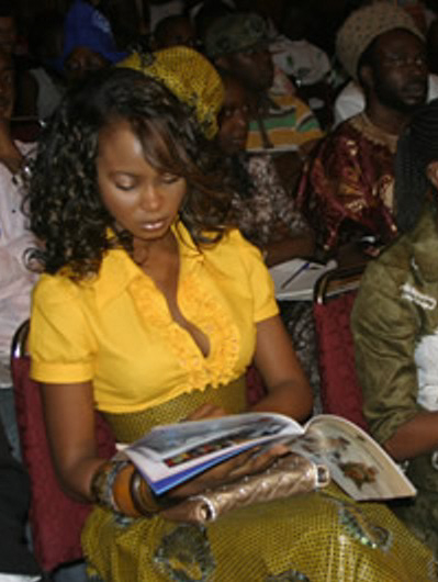 Omowunmi at an event in 2007