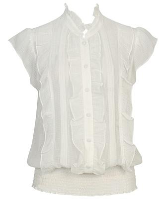 chiffon ruffle blouse $22.80