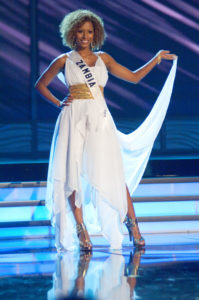 Andella Chileshe-Matthews - Miss Zambia 2009 - Evening Gown