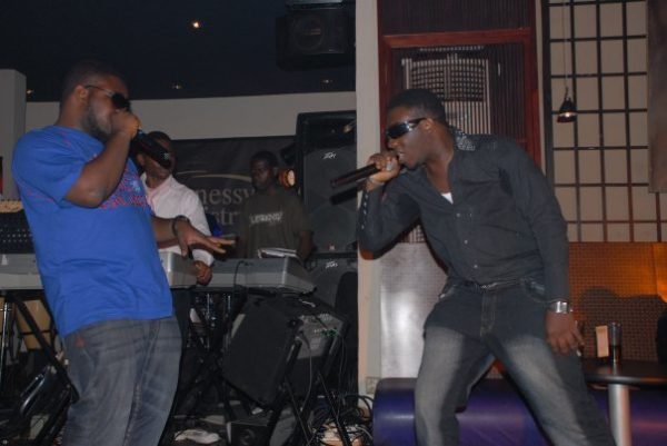 Producer Dokta Frabz & contestant Jimmy Flames blaze up the stage