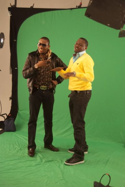 Dr. SID with D'Banj on set. Lookin' Hot. Love the styling!