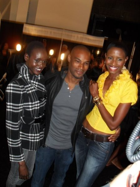 We spotted Tyson Beckford & Ladybrille's Uduak backstage