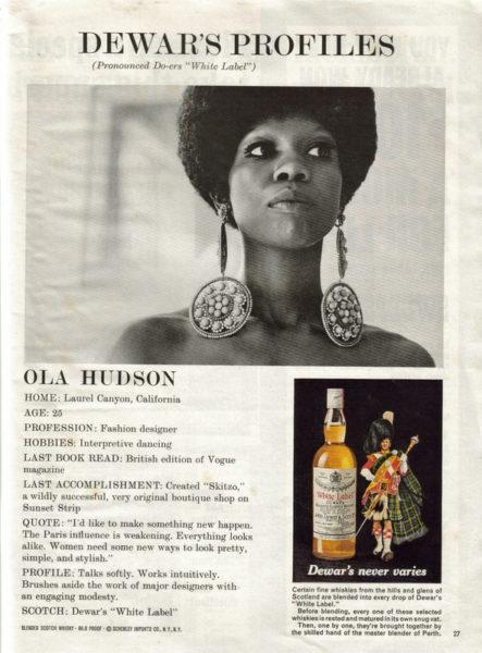 Ola Hudson in Dewars Ad