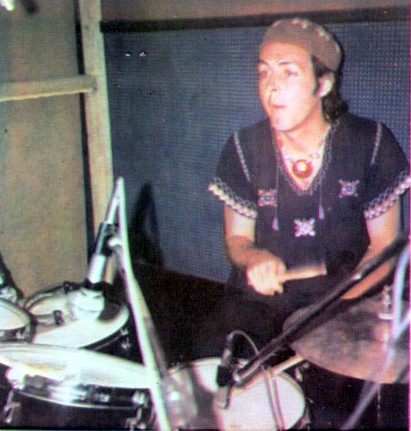 Paul Mccartney at EMI recording studio in lagos