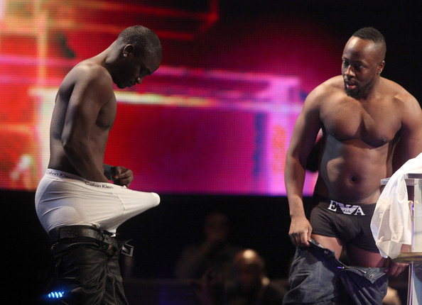 Akon and Wyclef pulled some hijinks! Seriously this photo is just WRONG