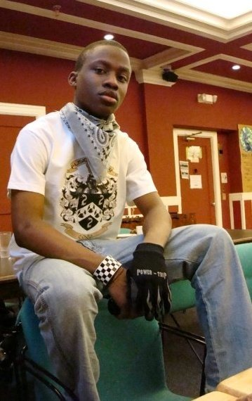 Fusion kelvar Shirt (my fashion line); Bandana; Bracelet: Hot topic; Gloves: Power trip; Jeans; Gap
