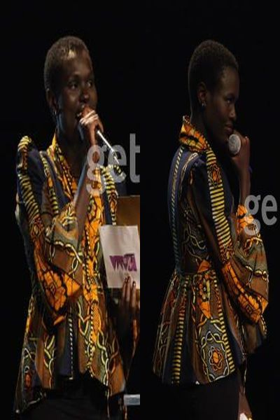 Kenyan supermodel Ajuma rocks the ankara top