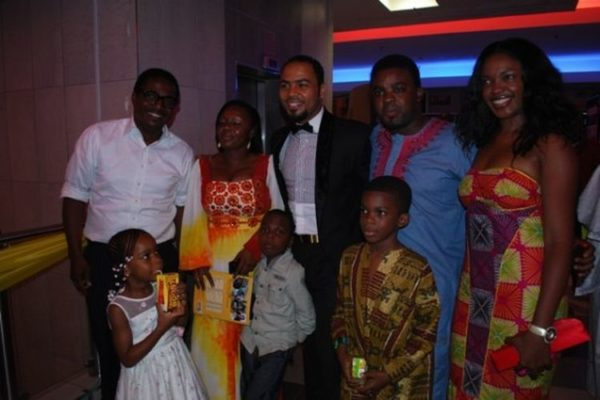 Toyin Subair, Ramsey Nouah with his wife & kids, Kunle Afolayan, Omoni Oboli with her son