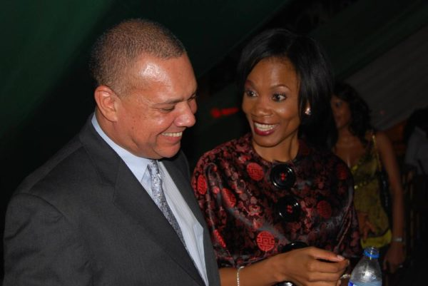 Guy Murray Bruce of the Silverbird Group with Funmi Iyanda