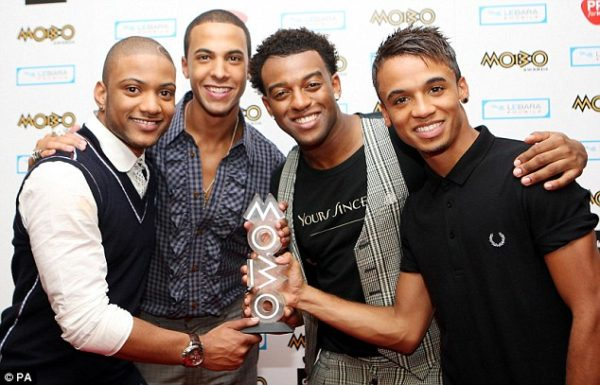 JLS (L-R: Jonathan 'JB' Gill, Marvin Humes, Oritse Williams and Aston Merrygold) took home two gongs at the Music Of Black Origin (MOBO) Awards in Glasgow last night