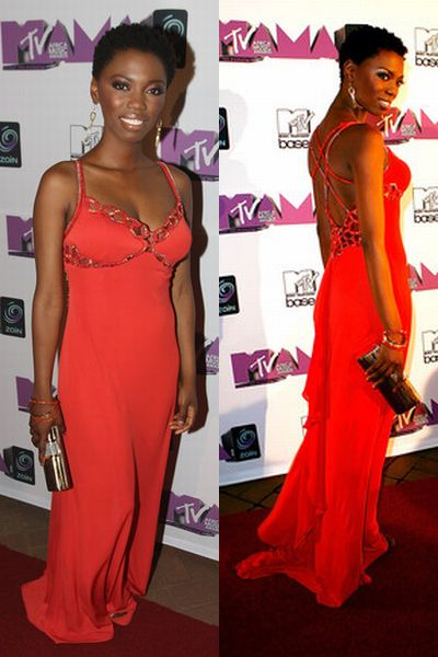 Newlywed SA music star Lira dazzles in red