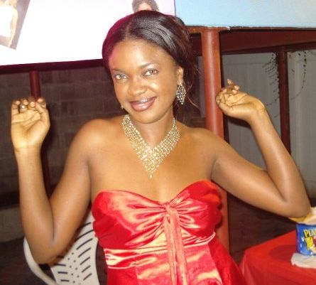 Omoni at a party organized by her fans in the US