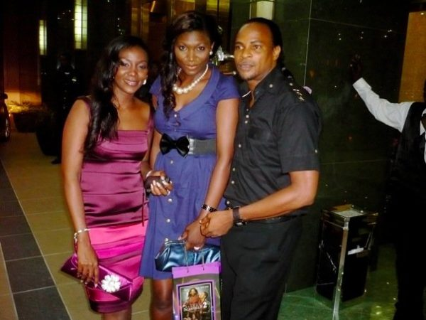 Silent Sandals star Genevieve Nnaji with Ufuoma Ejenobor & Fred Amata