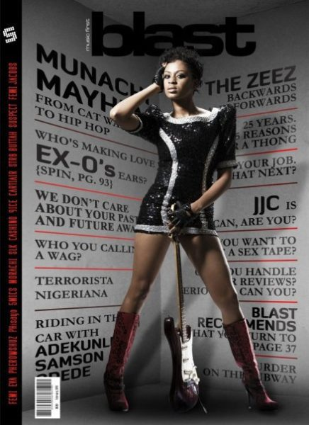 Munachi on the cover of Soundcity Blast