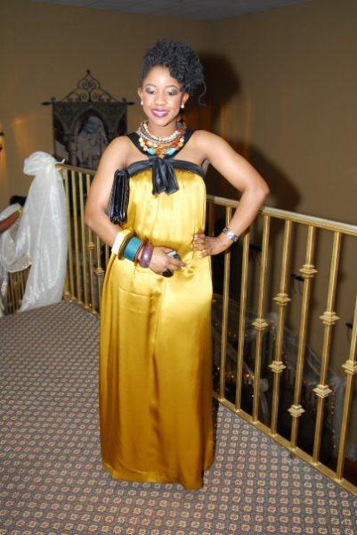 Dress: Kay Unger