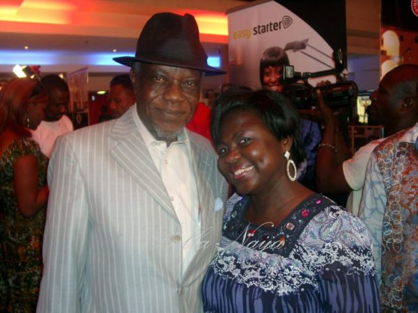 Justice Esiri with Nollywood Uncut's Bola Aduwo