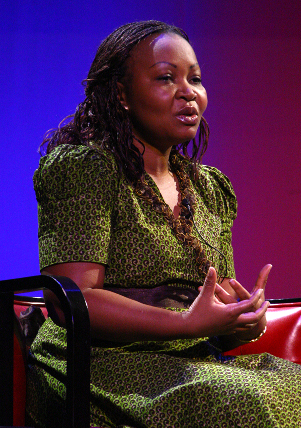 Annie Rashidi-Mulumba discussed the gruesome reality of rape in the Congo, explaining that sexual assault is often conducted in public to increase the humiliation and trauma for the victim. She works as a Consultant on Human Rights for the United Nations in Cameroon, and is a native of the Democratic Republic of Congo.