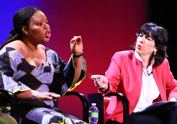 "Christiane Amanpour, CNN Chief International Correspondent and Leymah Gbowee, Executive Director, Women Peace and Security Network Africa spoke frankly during the panel on the prevalence of rape in war torn countries. ""The most dangerous thing to be in the Congo today is a woman, not a soldier,"" said Amanpour, while Gbowee advocated that the U.S. embassy pull out of the nation in order to draw more attention to the problem."