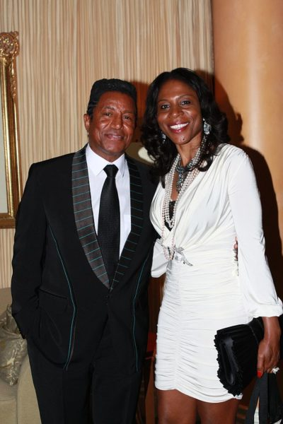 Celine Loader, Head of Marketing & Corporate Communications for First Bank with Jermaine Jackson