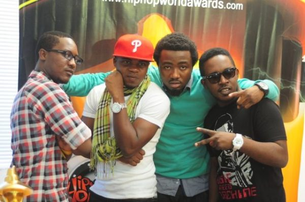 Jesse Jagz, DaGrin, Ice Prince & MI at the 2010 HHMA Nominees Unveiling