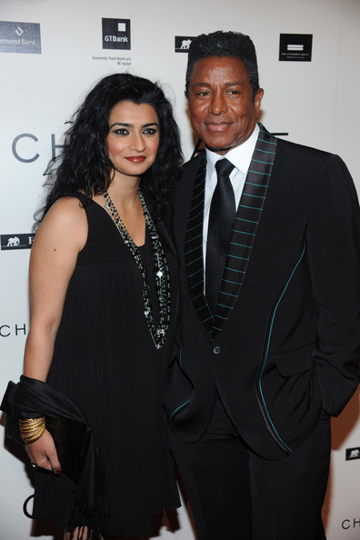 Musician Jermaine Jackson, (right) and Halima Rashid