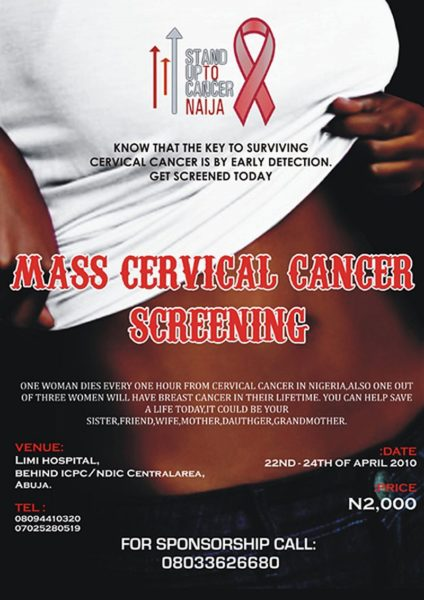 Stand up to cancer naija