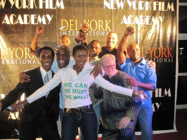 Steph with some of the instructors from the NY Film Academy