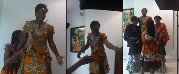 Designer, Bisola Edun Behind the Scenes at the Venus Collection Photoshoot