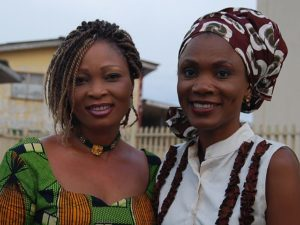 Funmi with Ms. Jennifer Ero, who helps to rehabilitate the trafficked girls
