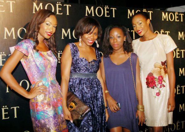 Tokini Peterside & Ebi Atawodi flanked by Golden Girls Marie and Banke