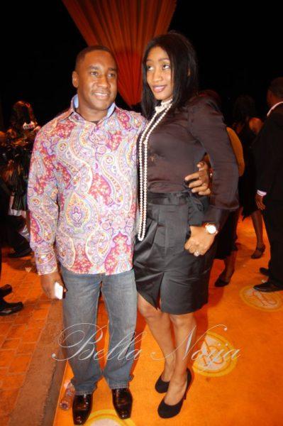 Nicholas Okoye with his wife