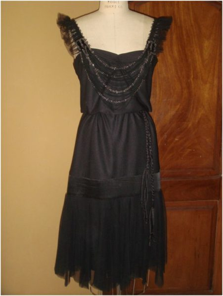 Black Flapper Dress from Kemkemstudio