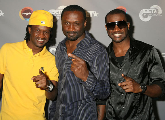 P-Square with brother/manager/producer Jude Okoye