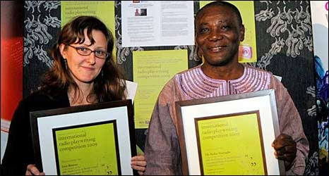 Erin Browne of the United States and Efo Kodjo Mawugbe from Ghana were 2010's winners